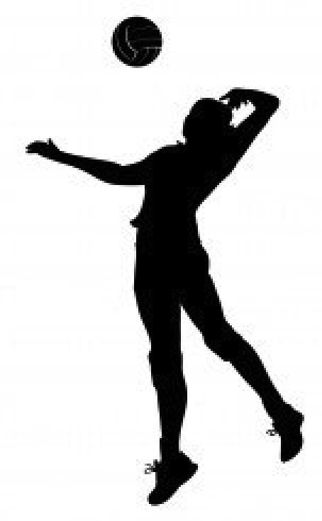 Clipart of volleyball players - Volleyball Players PNG Hitting