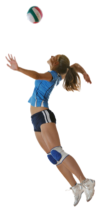 Volleyball Players PNG Hitting - 51580