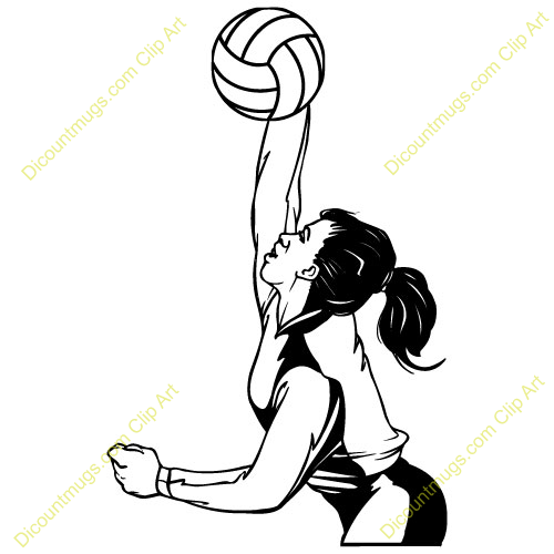 Volleyball Hitting Clipart - Volleyball Players PNG Hitting
