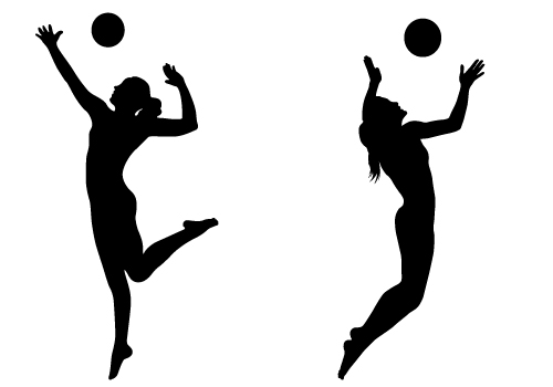 Volleyball Player Hitting . - Volleyball Players PNG Hitting