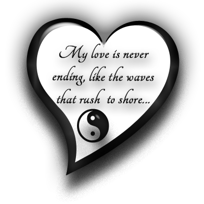 Vow Renewal Option 5 - Yin Yang Seaside Themed - Vow Renewal PNG