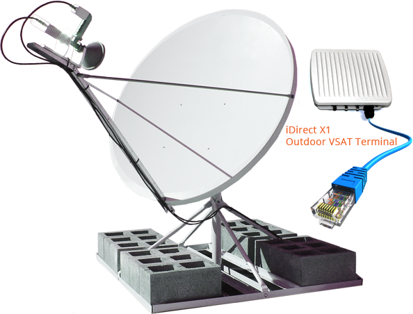 The iDirect X1 Outdoor VSAT terminal is designed for outdoor installation  with no indoor equipment required. Excellent for higher bandwidth  application PlusPng.com  - Vsat PNG
