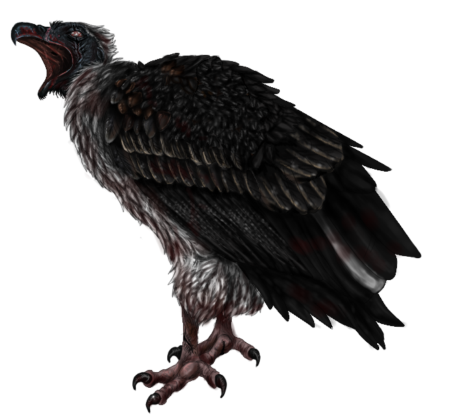 Zombie/Infected vulture adoptable by BubocrocAdoptables PlusPng.com  - Vulcher PNG