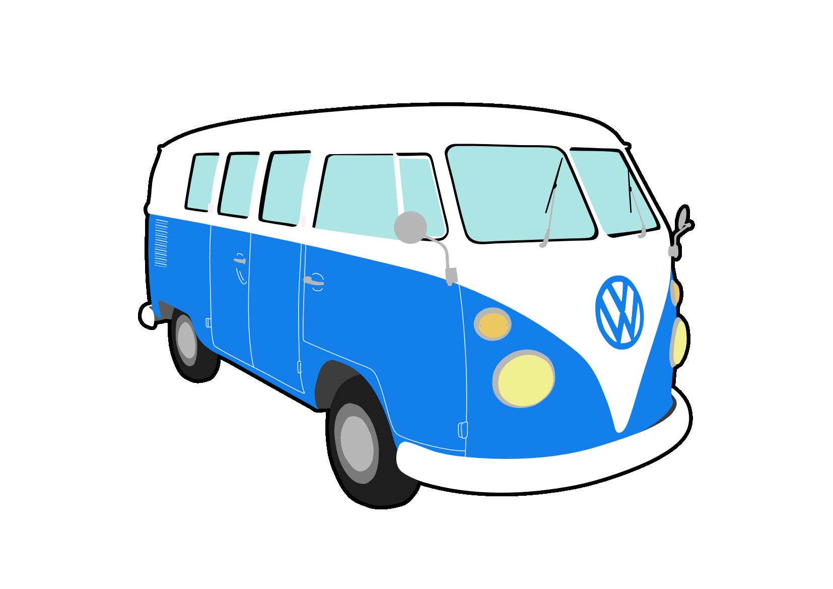 pin Vans clipart vw camper #3 - Vw Kombi PNG