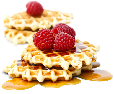 Waffle Breakfast PNG-PlusPNG.com-386 - Waffle Breakfast PNG