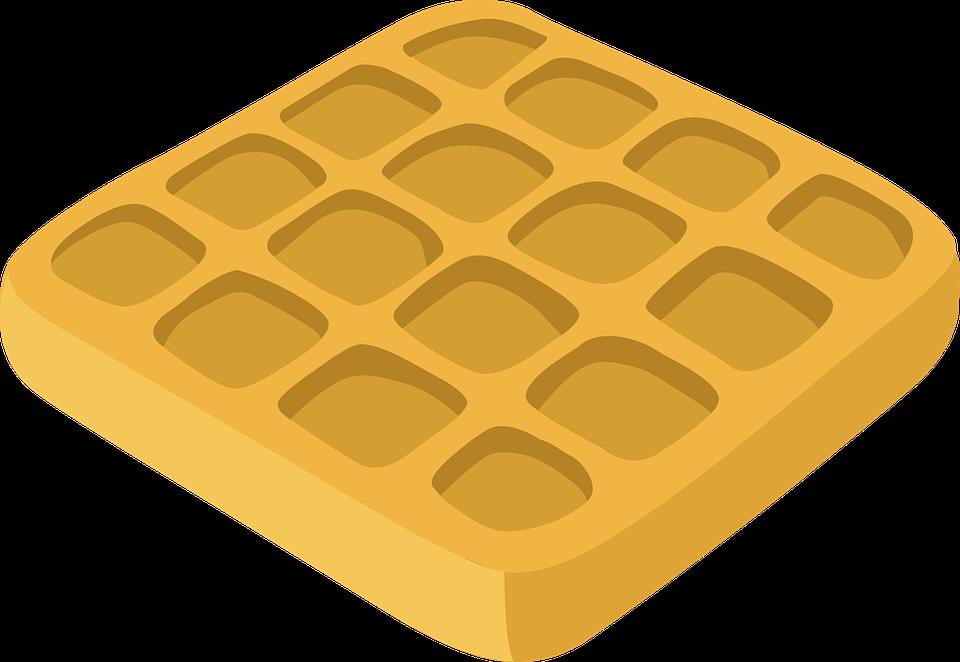 Waffle, Belgian, Breakfast, Food, Meal, Delicious - Waffle Breakfast PNG