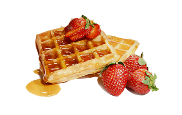 Waffle irons for fruit waffles - Waffle Breakfast PNG