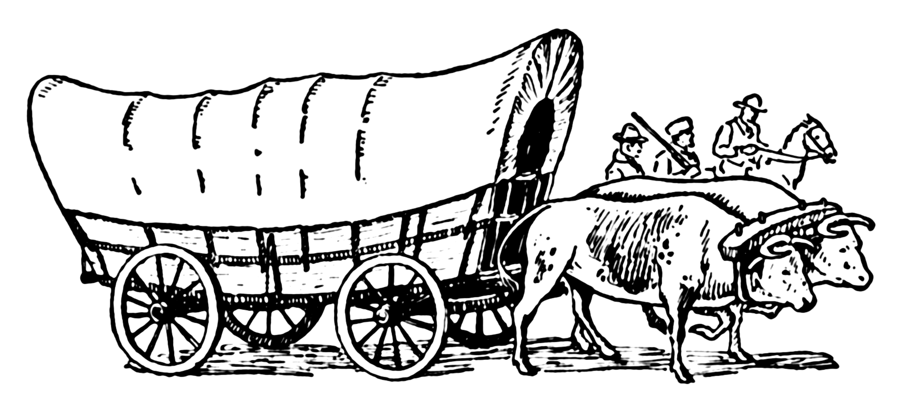 File:Covered Wagon (PSF).png - Wagon PNG Black And White