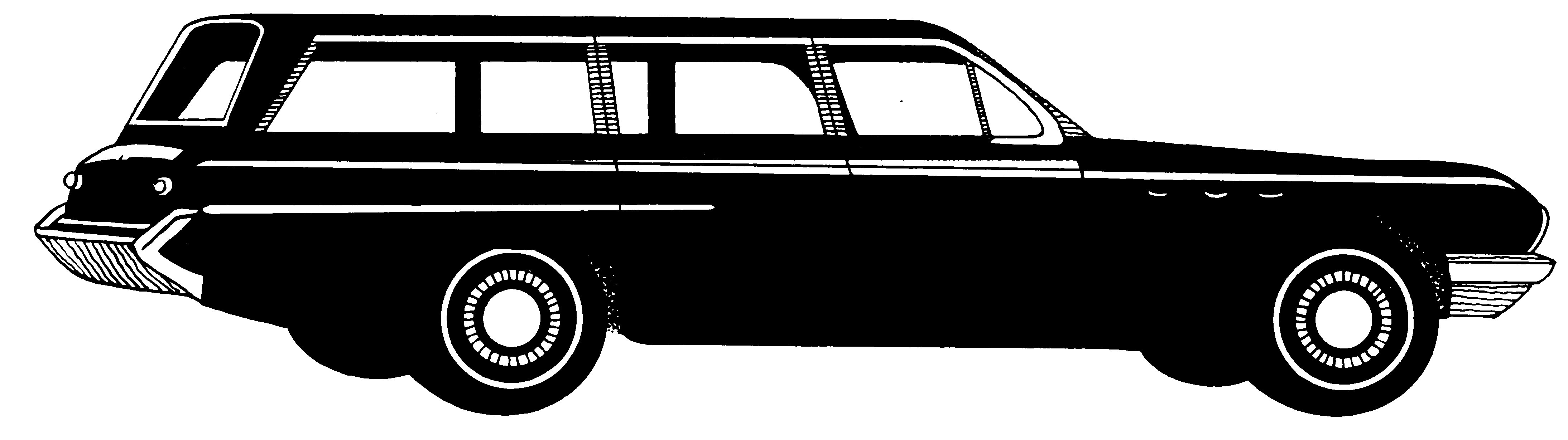 Wagon PNG Black And White - 54100