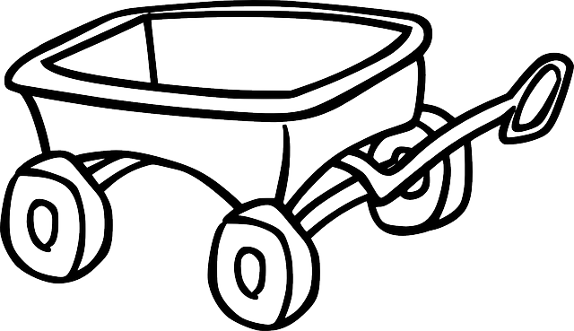 Wagon PNG Black And White - 54095