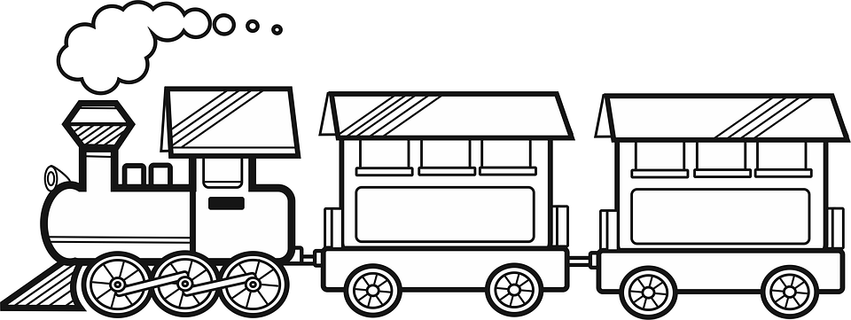 Wagon PNG Black And White - 54101