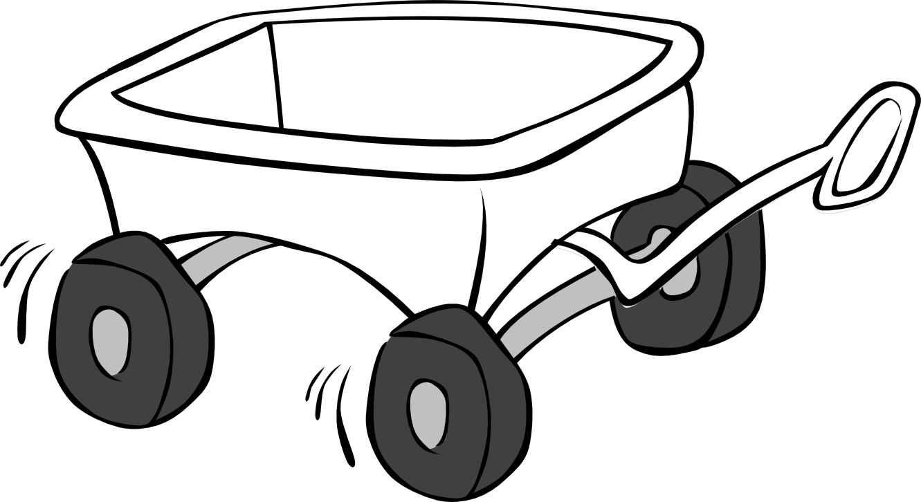 Wagon PNG Black And White