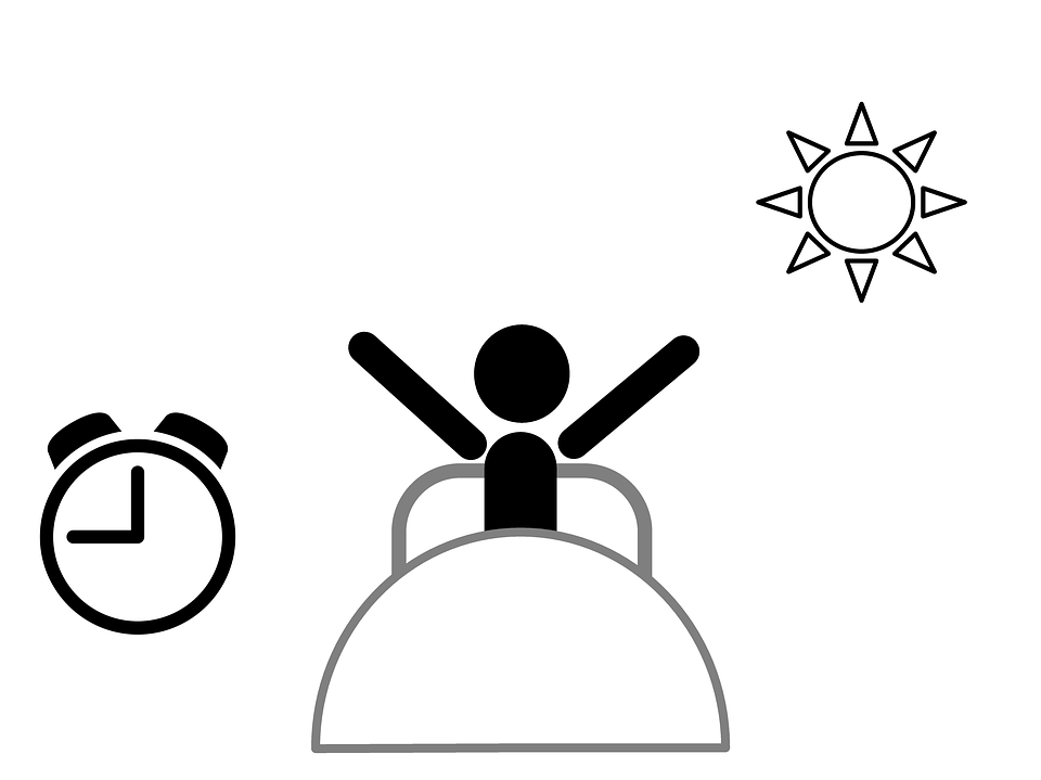 Wake Up, Morning, Bed, Sleeping, Wake, Clock, Sun - Waking Up PNG HD