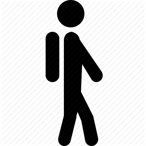 bag, boy, pupil, school, student, walk, walking icon - Walk To School PNG Black And White