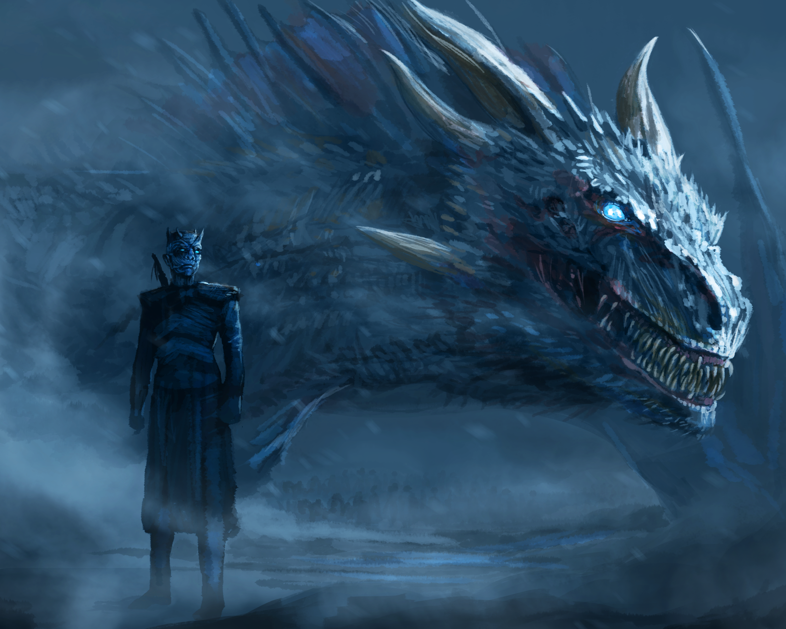 TV Şov - Game Of Thrones Night King (Game of Thrones) White Walker Ejderha - Walker PNG HD