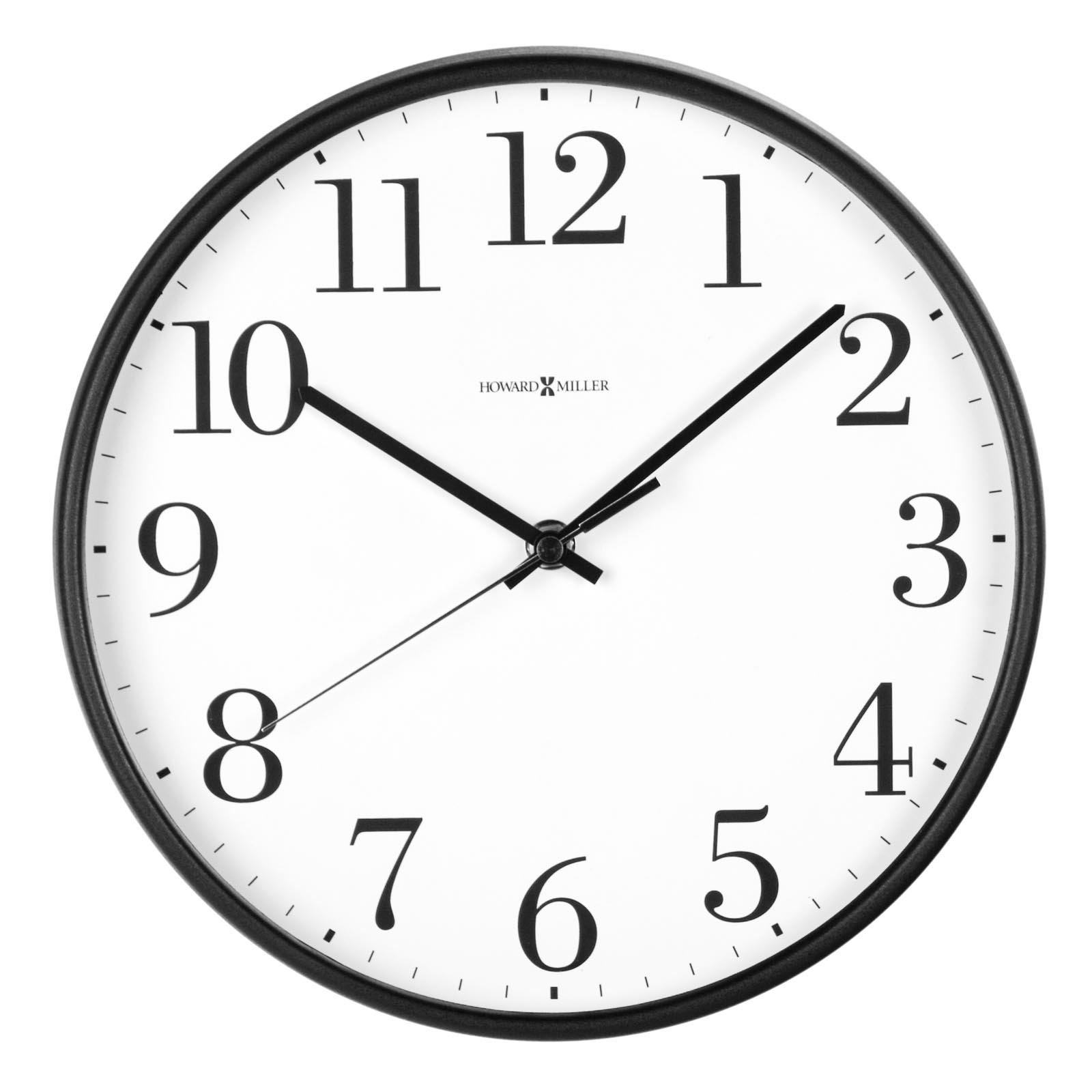 Wall Clock PNG Black And White-PlusPNG.com-1600 - Wall Clock PNG Black And White