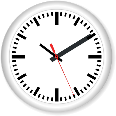 Wall Clock PNG Black And White-PlusPNG.com-400 - Wall Clock PNG Black And White