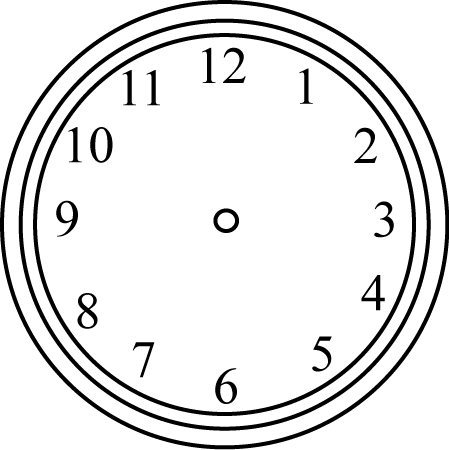 Clipart Info Wall Clock Png Black And White