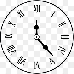 clock scale, Clock, Watch Surface, Time PNG and Vector - Wall Clock PNG Black And White