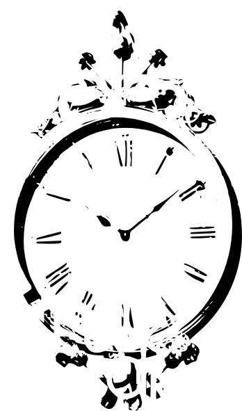 Download this image as: - Wall Clock PNG Black And White