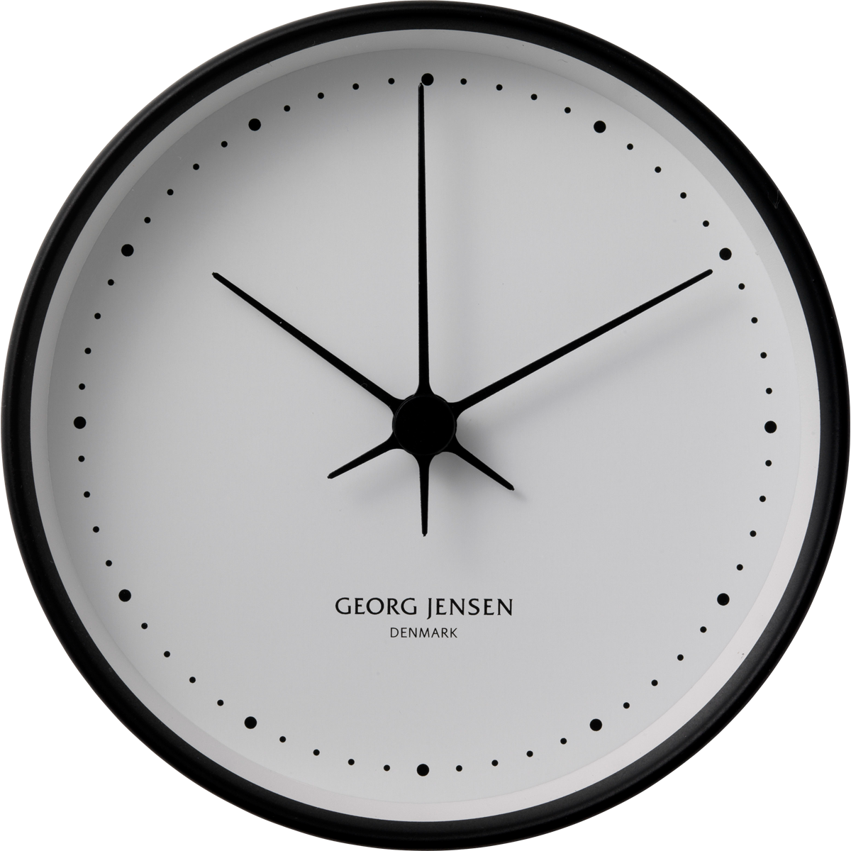 KOPPEL 10 cm wall clock, black with white dial by Georg Jensen - Wall Clock PNG Black And White