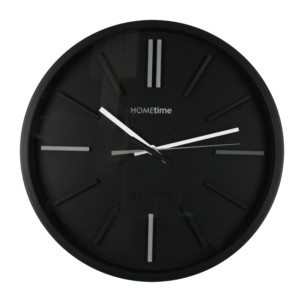 Modern Deep Dish Black Hometime Wall Clock - Wall Clock PNG Black And White