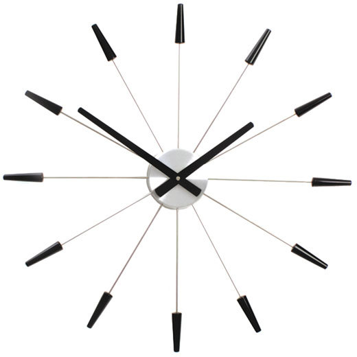 NeXtime Plug Inn Wall Clock Black - Wall Clock PNG Black And White