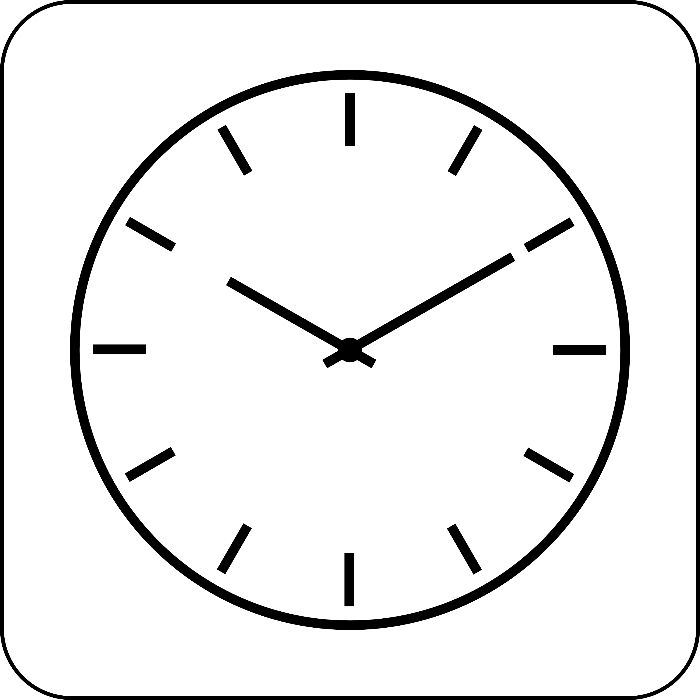 This free Icons Png design of Clock Icon PlusPng.com  - Wall Clock PNG Black And White