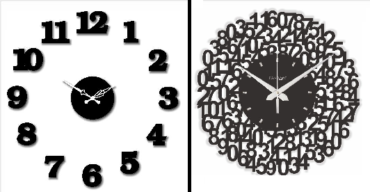Wall clock 4 - Wall Clock PNG Black And White
