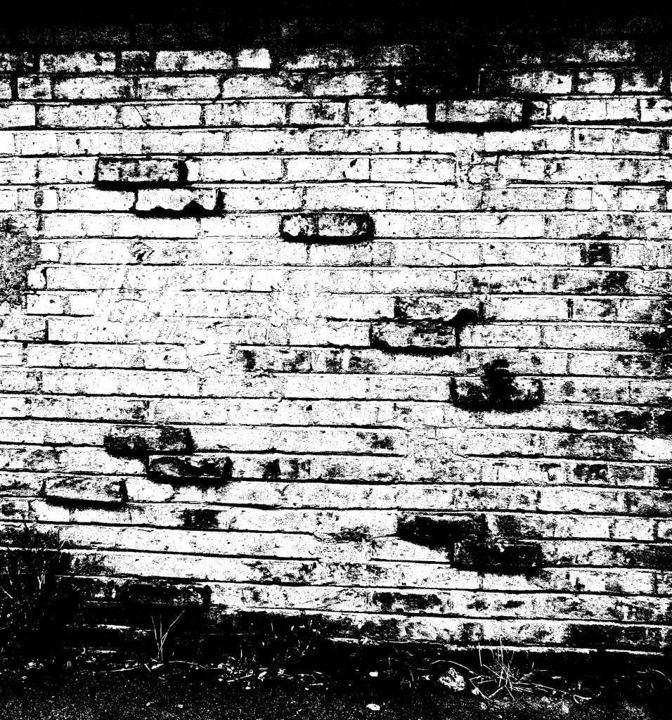 black-and-white-brick-wall - Wall PNG Black And White