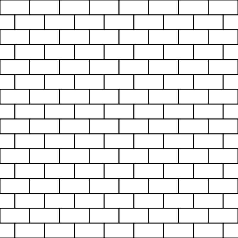 . PlusPng.com Free bricks white PlusPng.com  - Wall PNG Black And White