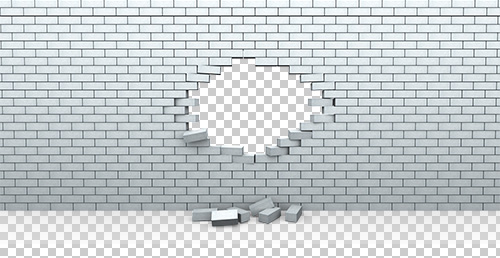 Hole in Brick Wall PNG - Wall PNG Black And White