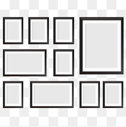 photo wall, Photo Wall, Frame, Photo Frame PNG and Vector - Wall PNG Black And White