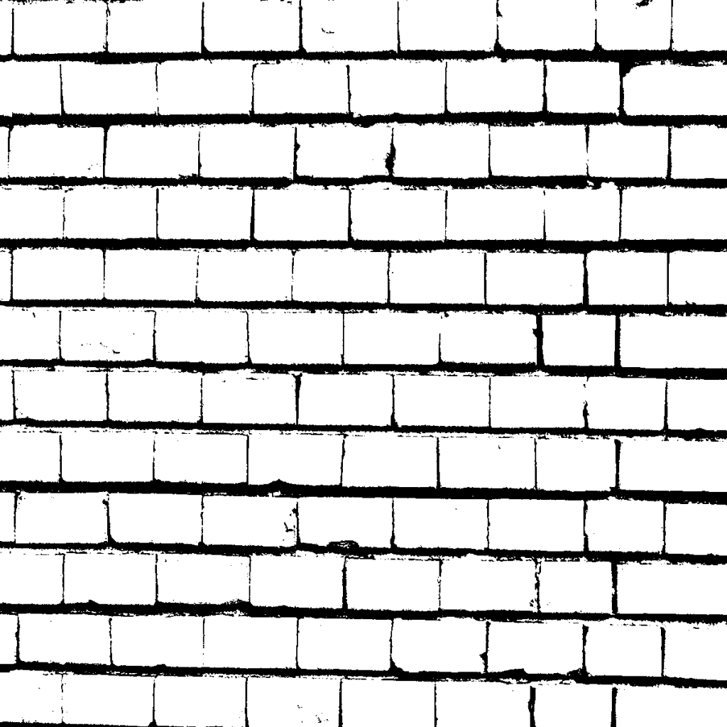 simple-black-and-white-brick-wall - Wall PNG Black And White