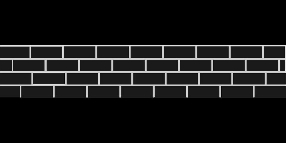 tuğla duvar taş bariyer doku zemin blok desen - Wall PNG Black And White