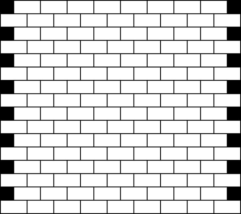 tuğla duvar tuğla beyaz duvar inşaat - Wall PNG Black And White