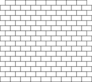 White Bricks Clip Art - Wall PNG Black And White