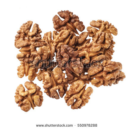 Kernel walnut isolated on the white background ,top view - Walnut HD PNG