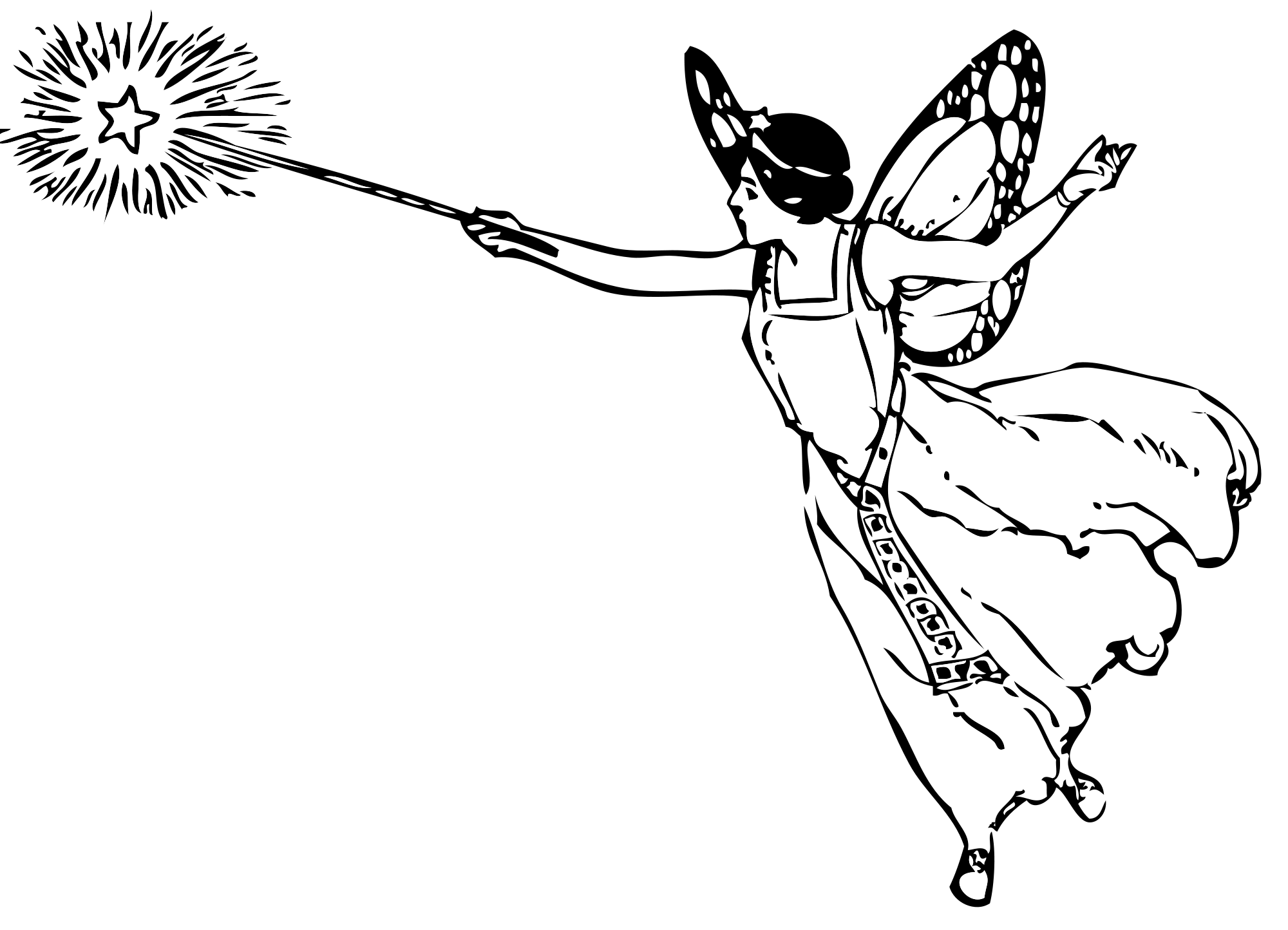 Wand PNG Black And White - 162475