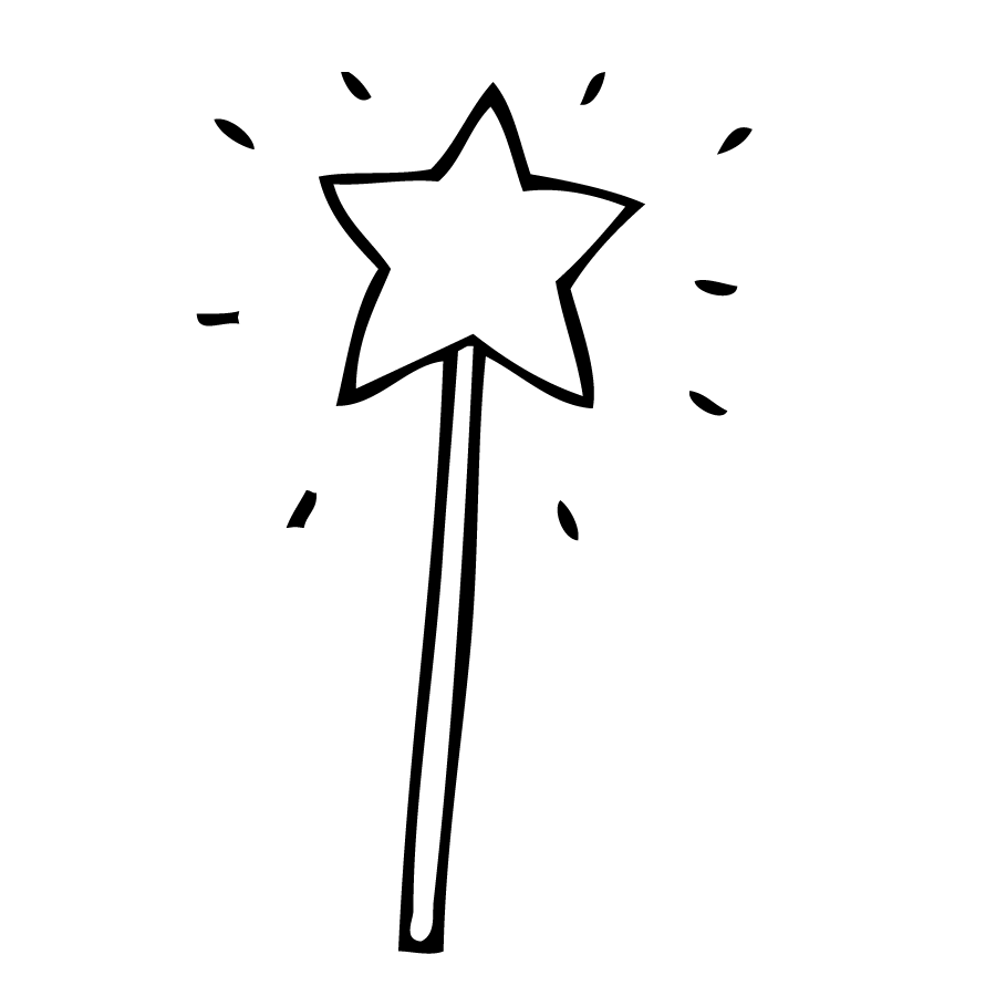 Wand clipart black and white school - Wand PNG Black And White