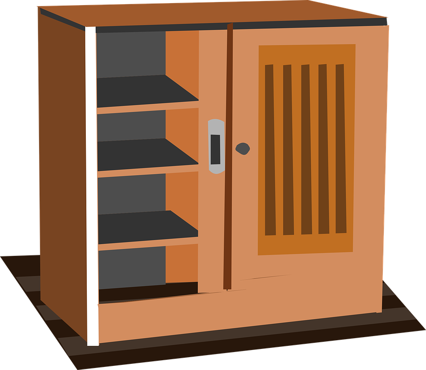 Cabinet, Cupboard, Wardrobe, Furniture, Brown, Wooden - Wardrobe HD PNG