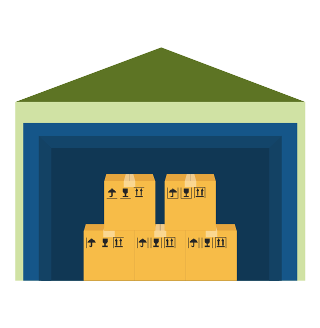 Warehouse, warehouse, - Warehouse Group Vector PNG