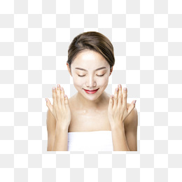 a female model with both hands blowing face, Woman, Cosmetology, Skin Care  PNG - Wash Hands And Face PNG