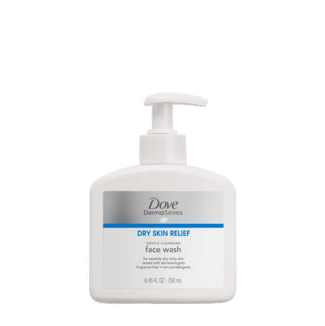 Dove DermaSeries Gentle Cleansing Face Wash 8.45oz - Wash Hands And Face PNG