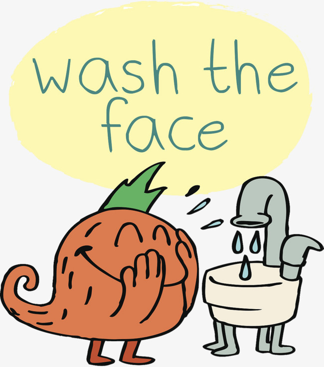 little monster wash your face, Cartoon Hand Painted, Decoration, Washing  Cartoon PNG Image - Wash Hands And Face PNG
