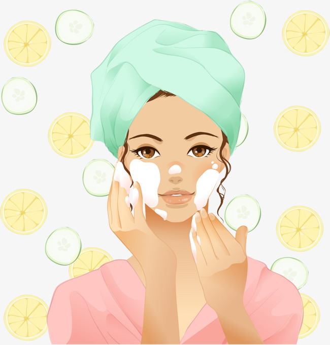 Vector hand painted face girl, Vector, Hand Painted, Wash Girl Free PNG and  Vector - Wash Hands And Face PNG