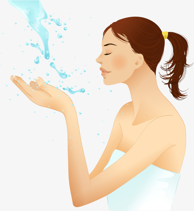 vector hand painted face, Vector, Hand Painted, Wash Your Face PNG and  Vector - Wash Hands And Face PNG
