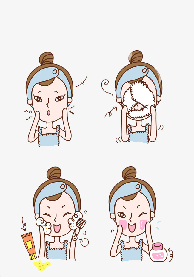 wash your face, Cartoon Hand Painted, Teaching, Decoration PNG Image and  Clipart - Wash Hands And Face PNG