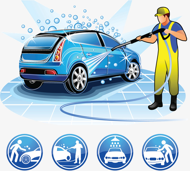 Car wash beauty care services, Rinse, Car Wash, Service Industry PNG and PSD - Washing Car PNG HD