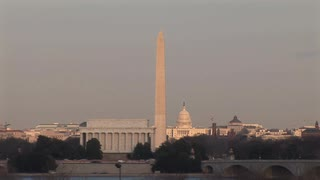 HD ES: Washington DC Skyline Highlights The Washington Monument, The US  Capitol Building, - Washington Monument PNG HD